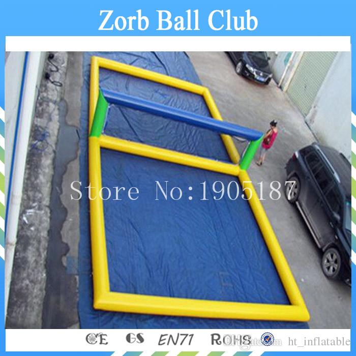 Free Shipping Factory Outlet Inflatable Volleyball Court/Water Floating Volleyball Court For Sale Inflatable Water Games