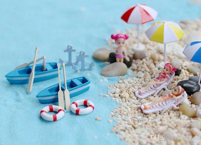 Bikini Sailing Boat Fairy Garden Miniatures Resin Craft Terrarium Figurines Tonsai Tools Gnomes Zakka Dollhouse Toys Home Accessories