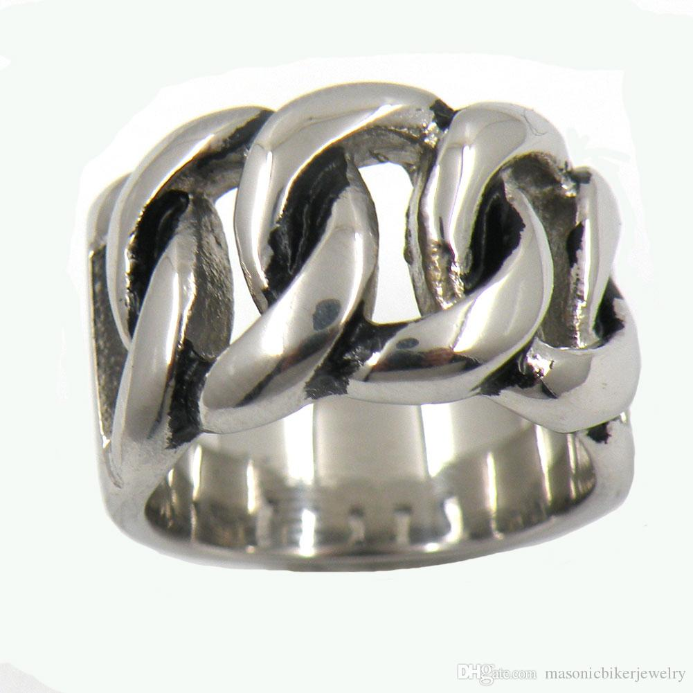 Stainless Steel Mens Or Womens Punk Vintage Tribalceltic Knot Wave Ring Band Cowboy Chain Sig Gift 13w78 Pearl Engagement Rings Matching: Custom Cowboy Wedding Rings At Reisefeber.org