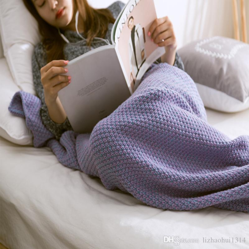 Großhandel 80cm * 180cm Violet Große Meerjungfrau Decke, Muster ...