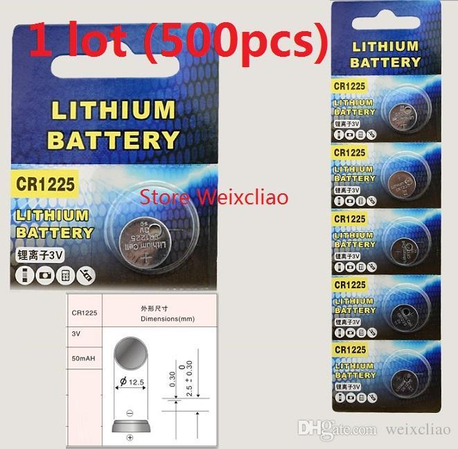 500 قطع 1 وحدة cr1225 3 فولت بطارية ليثيوم أيون زر خلية البطارية cr 1225 3 فولت بطاريات ليثيوم أيون عملة مجانية