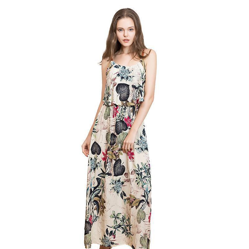 2017 Fashion Dress Womens Clothing Summer Sleeveless Suspender Plus