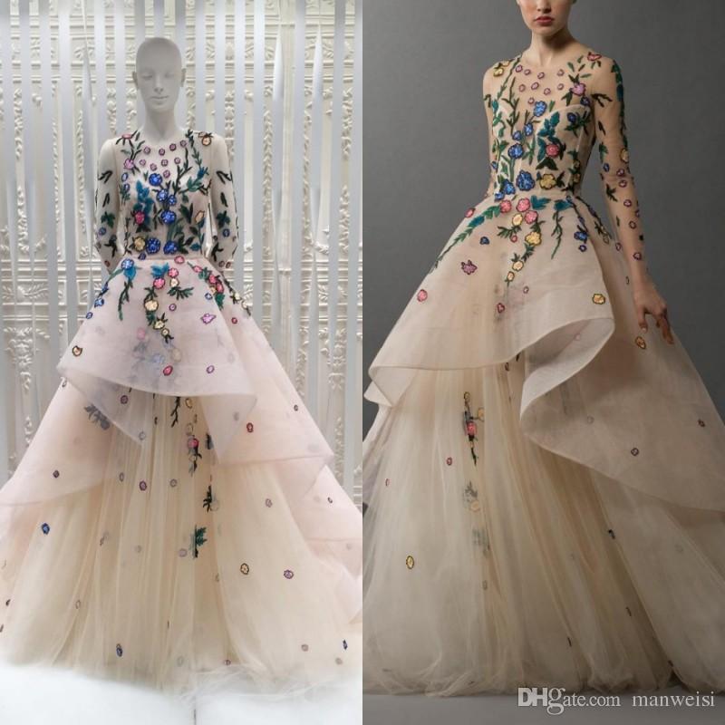82352ce323ff Acquista Abiti Da Promenade Di Lusso Tony Chaaya 2017 Abiti Da Sera Lunghi Abito  Da Sposa Tulle Vintage A Line Dress A  164.03 Dal Manweisi