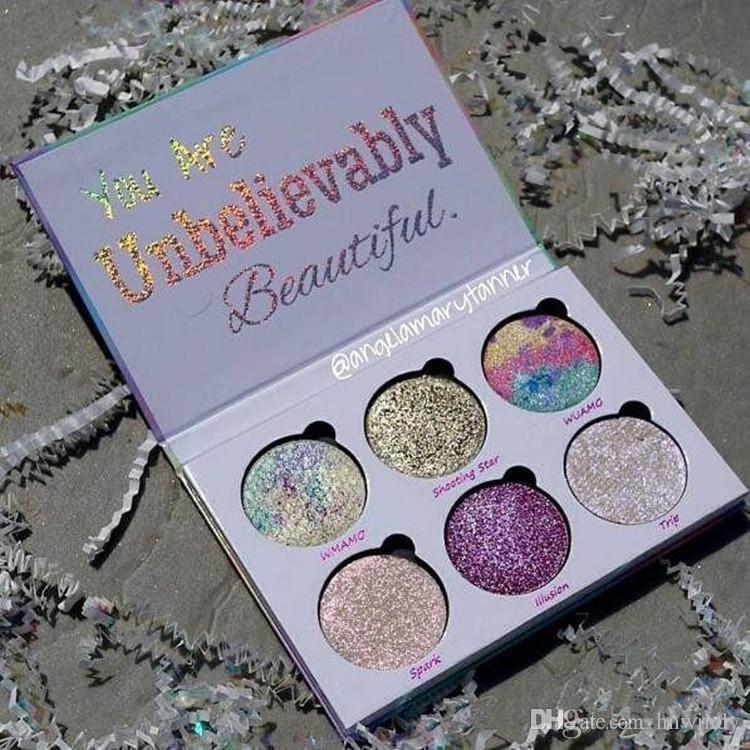 Dropshipping 2017 Aşk Luxe Güzellik Fantezi Paleti Makyaj İnanılmaz Güzel Vurgulayıcılar Göz Farı 6 Renkler Göz Farı