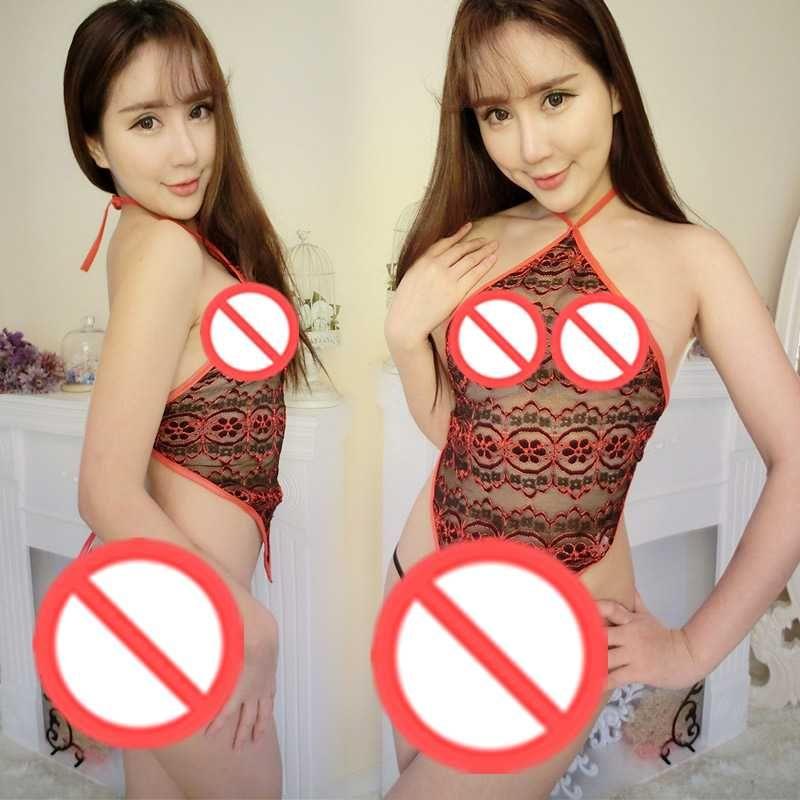 Livraison gratuite nouvelle lingerie sexy cosplay nouveaux pantalons de ventre de broderie avec un pyjama tentant sexy halo transparent peut être en gros
