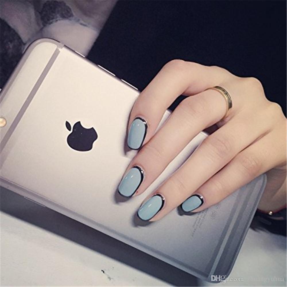 Makartt® French Acrylic Europe Style False Nails Fake Tips 10 Sizes For Nail Salons And Diy Nail Art At Home WhiteA0007 False Nail Designs Cheap ...