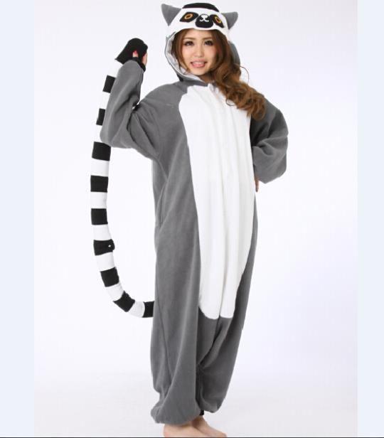 2019 Wholesale Novelty Animal Lemur Long Tail Monkey Adult Onesie Unisex  Women Men S Animal Pajamas Halloween Christmas Party Costumes From  Stepheen dea9e221e