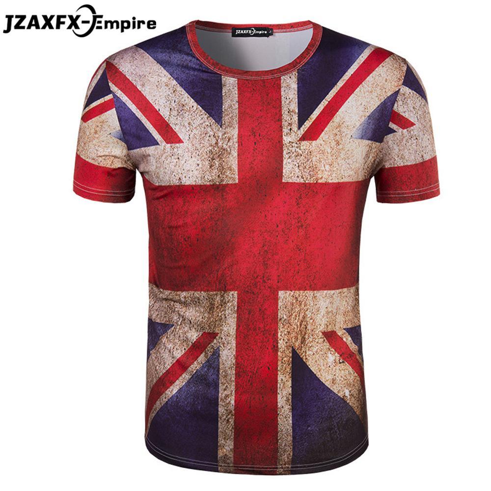 d20377435 Wholesale Camisetas Masculina Mens Union Jack T Shirt Short Sleeve O Neck  Men Print UK Flag T Shirt Man Shirts Camiseta Masculina Online Tee Shirts  Shopping ...