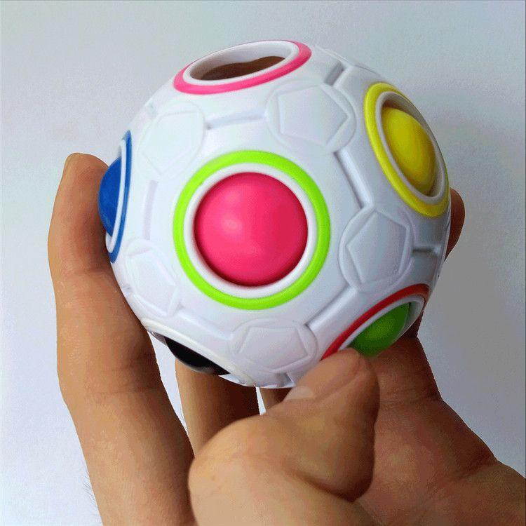 Regenbogen Ball Magie Zappeln Würfel Geschwindigkeit Fußball Spaß Kreative Kugelförmige Rätsel Ball Kinder Pädagogisches Lernspielzeug spiele für Kinder Geschenke
