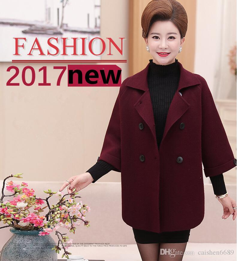 2018 spring new mother clothing Medium style Middle-aged women coat fashion Overcoat casual jacket Outerwear loose coats large size