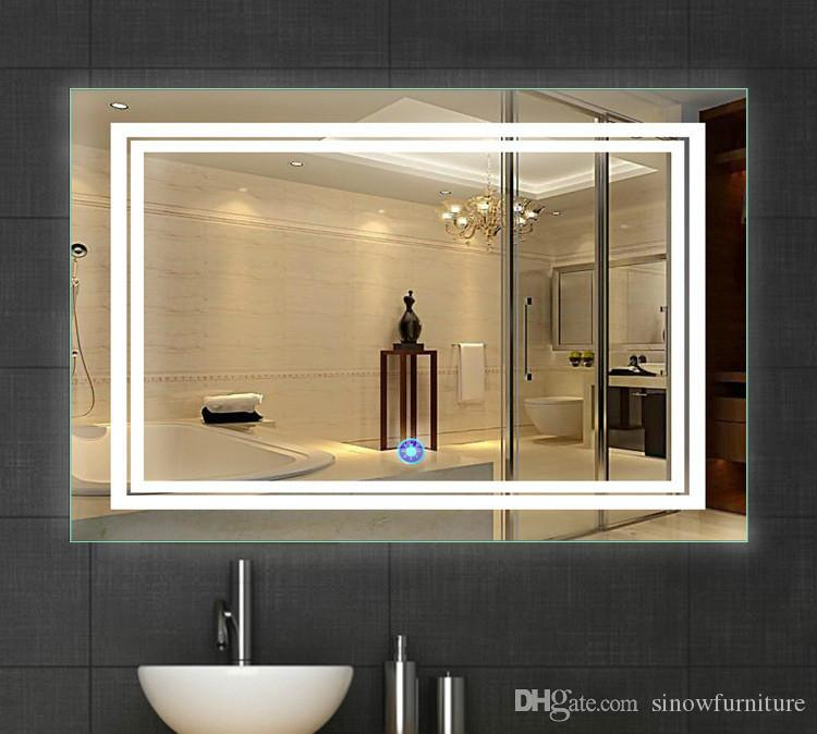 led bathroom mirror 24 inch x 36 inch lighted vanity mirror includes defogger u0026 touch switch wall mount vertical or horizontal from