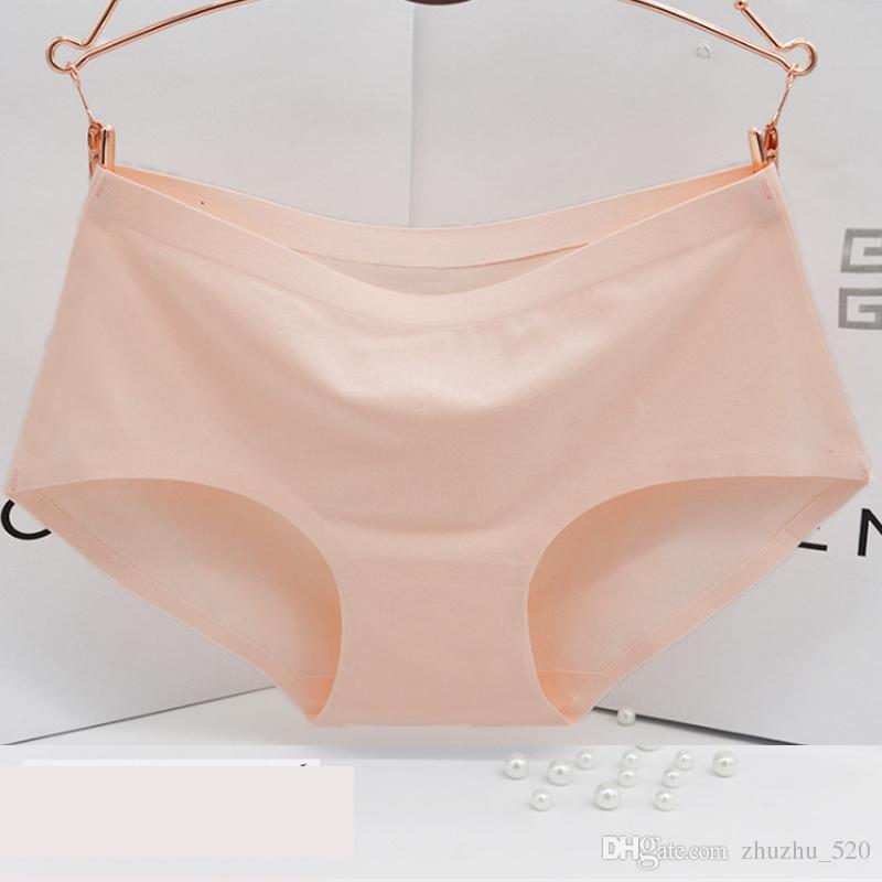 Seamless Panties Cotton High Quality Summer Brief Women Elastic Heathy Underwear Girls Natural Color Lady Underwear Cotton