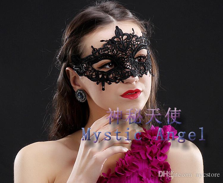 DHL all'ingrosso maschere il viso in pizzo nero a buon mercato le feste delle donne forniture spettacolo di Capodanno di Natale
