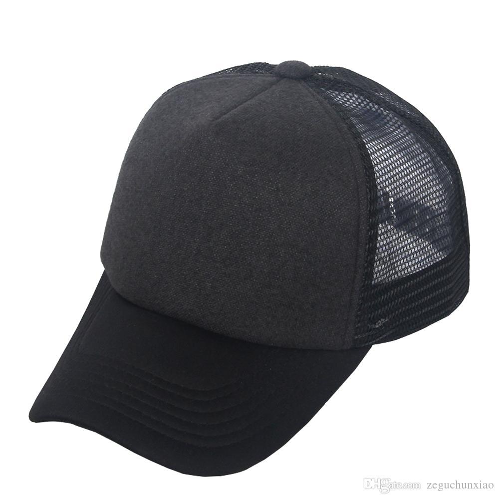 Compre Sombrero De Malla De Camionero De Moda Clásico Gorra De Béisbol Lisa  Negro   Gris Oscuro Hombre De Poliéster Unisex Mujer Ajustable Todas Las ... b5c849be684