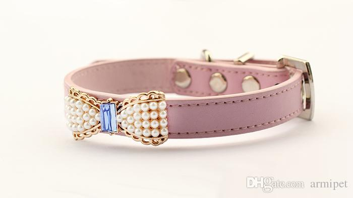 armipet Pearl Bow Dog Collar Pets Puppy Princess Collars For Dog 6041023 Pet Products S M