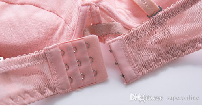 نماذج وسادة لطيف حمالات الصدر الدانتيل مثير الملابس الداخلية التطريز تنفس الثدي النساء الفتيات الملابس الداخلية الصدرية مجموعة موجز رقيقة