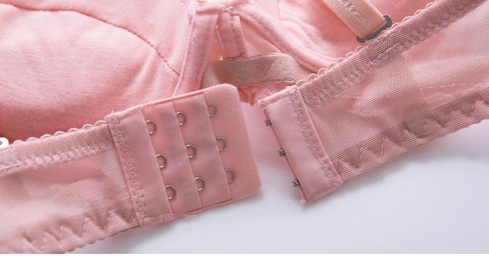 Bonito modelos de almofada Bras Rendas Sexy Lingerie Bordado Respirável Mama Mulheres meninas underwear Fina Sutiã Breve Set