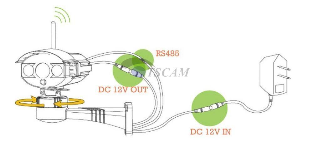 CCTV 브라켓 PTZ 전기 회전 RS485 연결 팬 틸트 회전 모터가 내장 된 IP 아날로그 카메라 액세서리 마운트를 들어