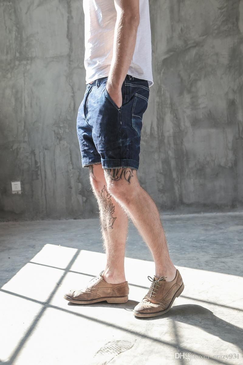 2019 New Brand Summer Mens Shorts Fashion Denim Shorts Washed Slim