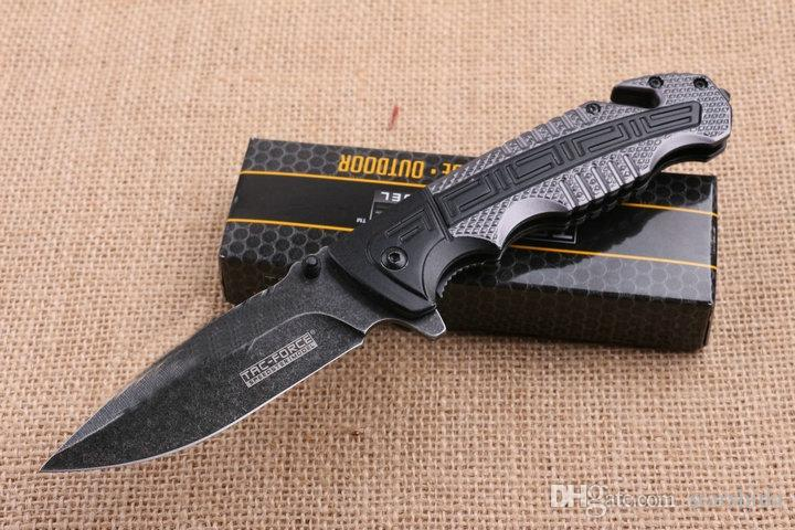 Tac Force TAC919 Flipper Stonewashed Tactical Folding Knife 5Cr13Mov 57HRC Outdoor Camping Hunting Survival Pocket Knife Utility EDC Gift