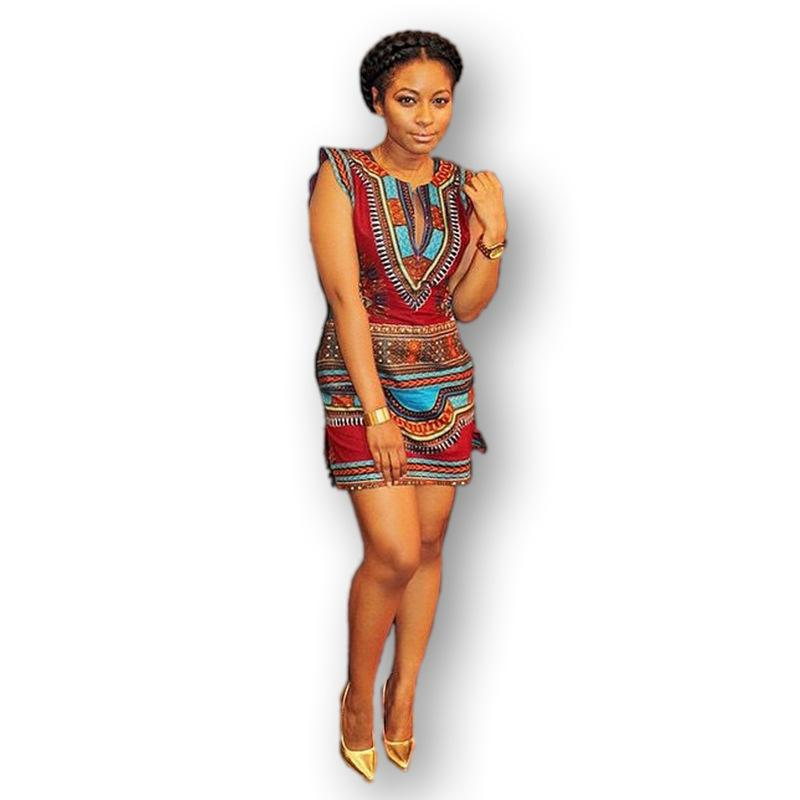 2016 New African Fashion Dashiki Dress Women Sexy Party Night Club ...