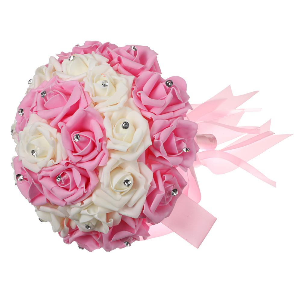 2018 Pink Color Bride Bouquet 12 Wedding Party Bride Bouquet