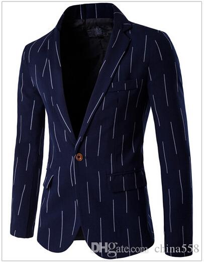 2017 boutique British Men's Clothing thin section a single row buckle a small business Men's Suits & Blazers D061