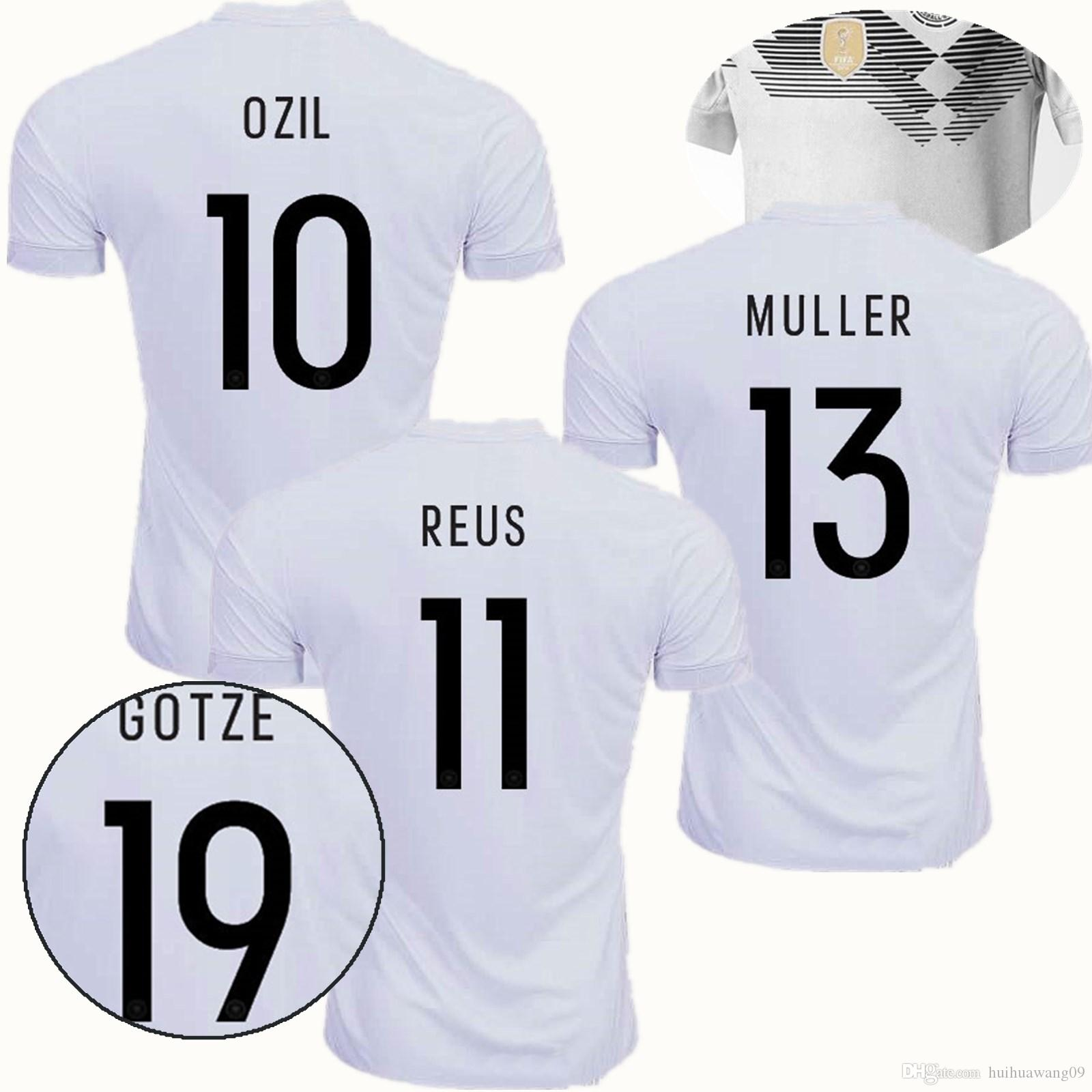 872457add92 ... best price goalkeeper shirt neuer 1 national germany 2018 world cup  jerseys muller soccer jerseys 18