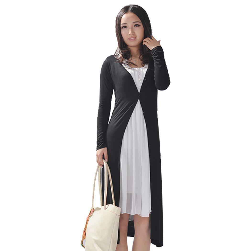 2017 Wholesale Ladies Women Long Sleeve Long Length Maxi Cardigan ...