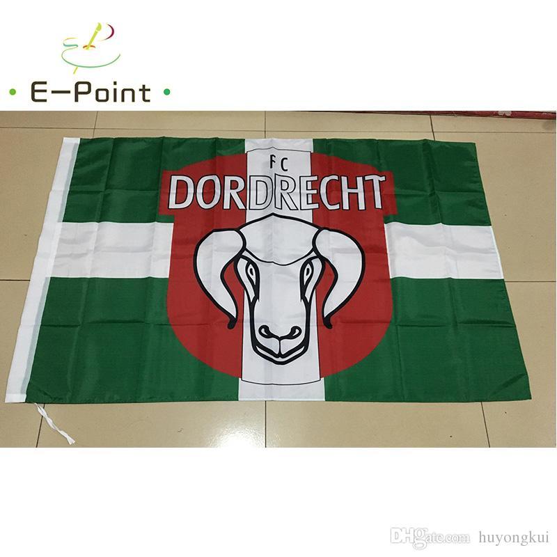Holland FC Dordrecht 3 5ft 96cm 144cm Polyester Flag Banner Netherlands Decoration  Flying Home   Garden Flag Festive Gifts FC Dordrecht Flag Banner ... e7d1fa869