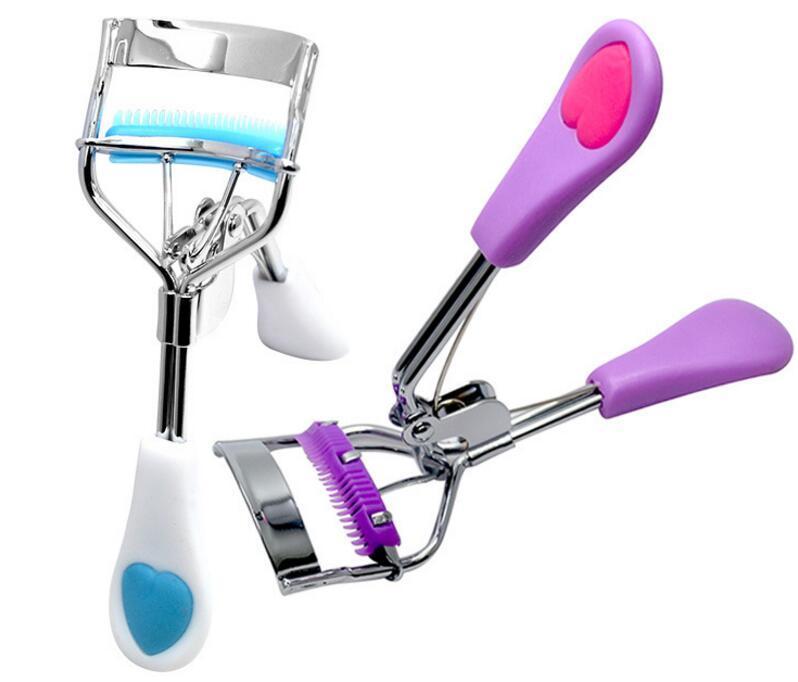 Llega Señoras de maquillaje pestañas rizador de pestañas rizador con peine Clip rizador de pestañas belleza herramienta con estilo DHL envío gratis
