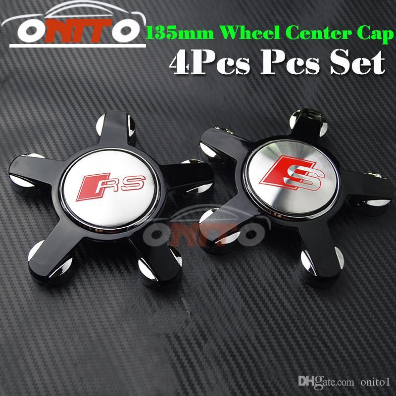 Fashion car embelm wheel center Cover for RS/S Logo Badge Emblem auto logo for A1/A2/A3/A4/A5/A6/A7/A8/Q1/Q3/Q5/Q7