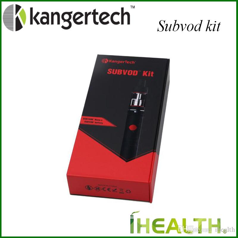 100% Origianl! Kanger SUBVOD Starter Kit 1300mah SUBVOD Battery with 3.2ml Top Refilling Subtank Nano Atomizer with 0.5ohm SSOCC Coil Head