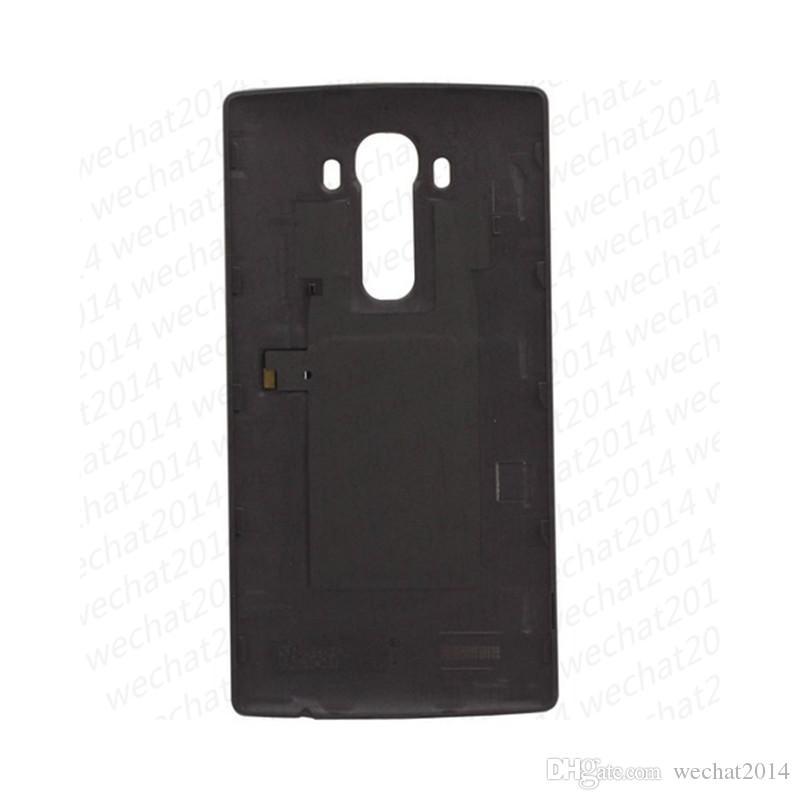 100% nuovo indietro porta batteria coperchio posteriore alloggiamento in vetro di ricambio LG G4 F500 H815 H810 H811 VS999 LS991 VS986 DHL libero