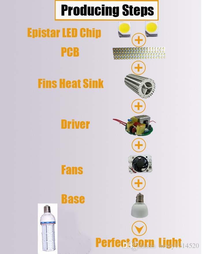 Spedizione gratuita Impermeabile IP65 36W E27 \ E26 \ E40 \ E39 Lampadina SMD5730 LED Corn WW, NW, CW Temperatura del Colore CCT 3 ANNI DI GARANZIA