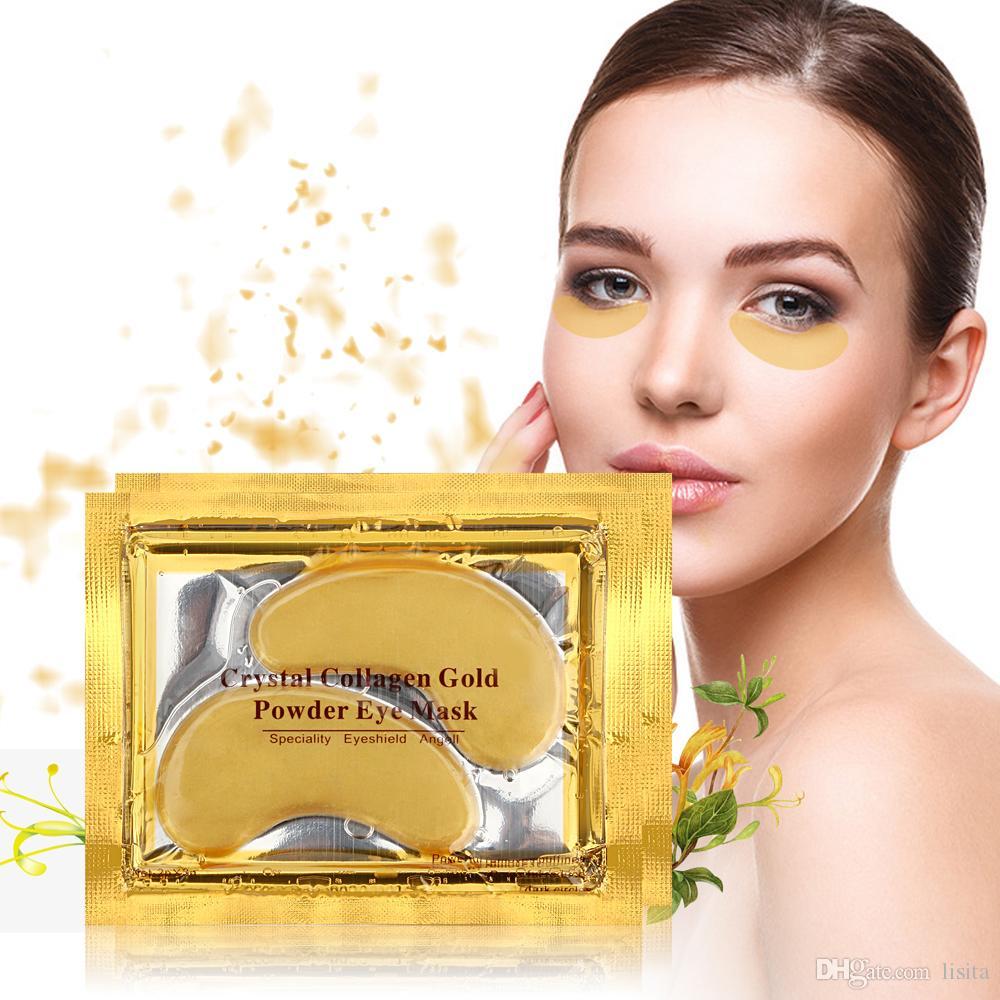 ROSOTENA DHL 10000 adet / grup Altın Göz Maskesi Kadınlar Kristal Göz Kapağı Yama / Kristal Kollajen Göz Maskesi Altın Maske Koyu Daire Anti-Aging