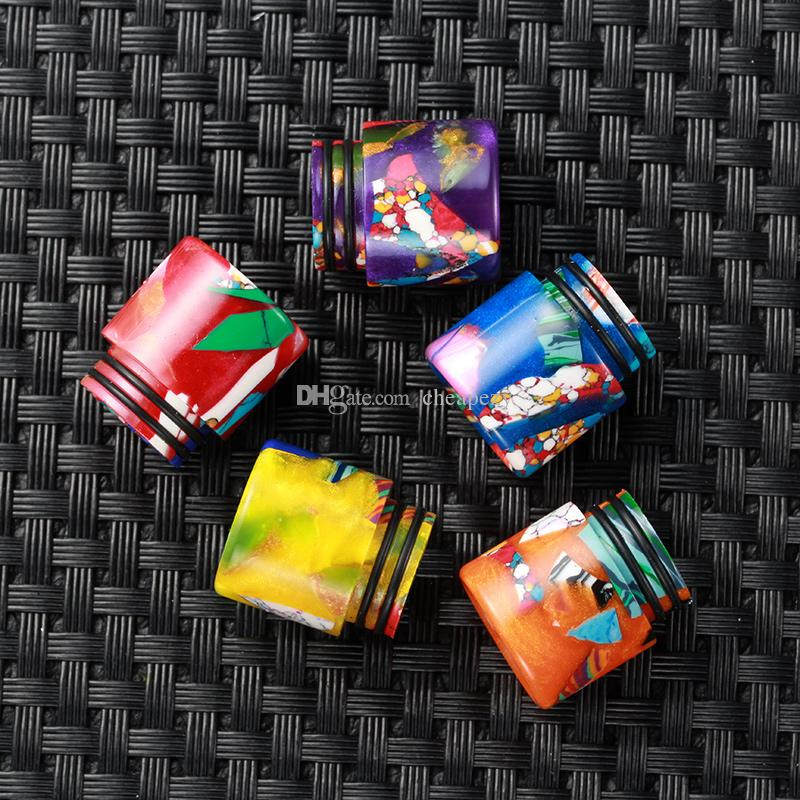 810 Turquoise with Epoxy Resin Drip Tips for TFV8 TFV12 Kennedy Goon 528 RDA Atomizers 810 Mouthpieces Best Design DHL Free