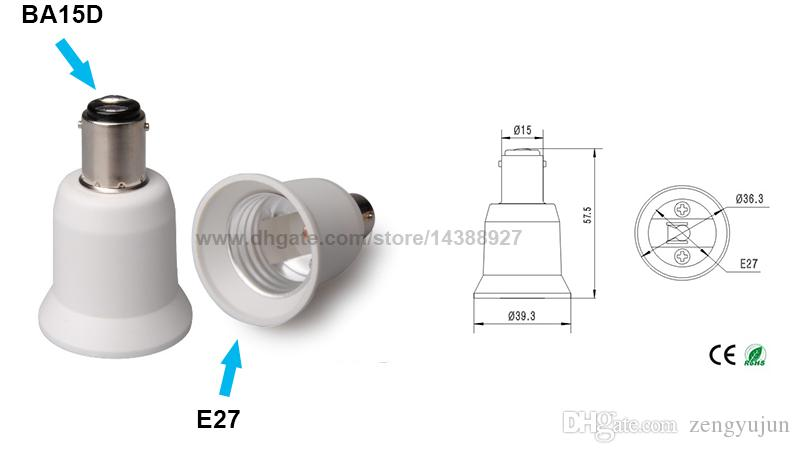 Fireproof Material BA15D to E27 lamp Holder Converter Socket Conversion light Bulb Base type BA15D-E27 Adapter