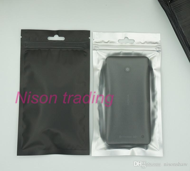 10x18cm 100 шт./лот передняя прозрачный черный алюминиевая фольга ziplock сумка с вешалкой для хранения ватным тампоном пылезащитный карман, губка мешок