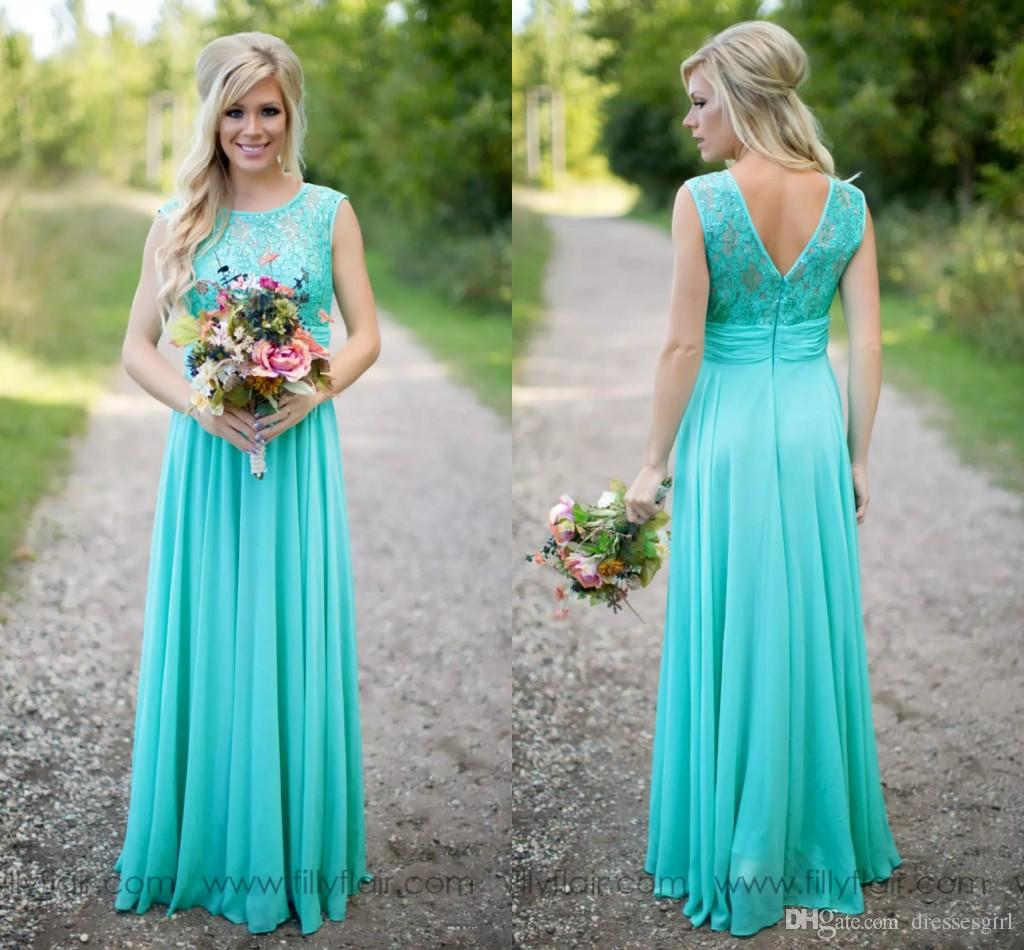 High Quality 2018 New Arrival Turquoise Bridesmaid Dresses Country ...