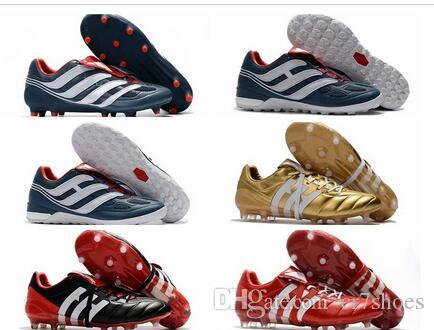 3b2e8ce78 2019 2018 Mens Soccer Cleats Predator Precision TF IC Turf Football Boots  Predator Mania Champagne FG Indoor Soccer Shoes High Quality Cheap Hot From  ...