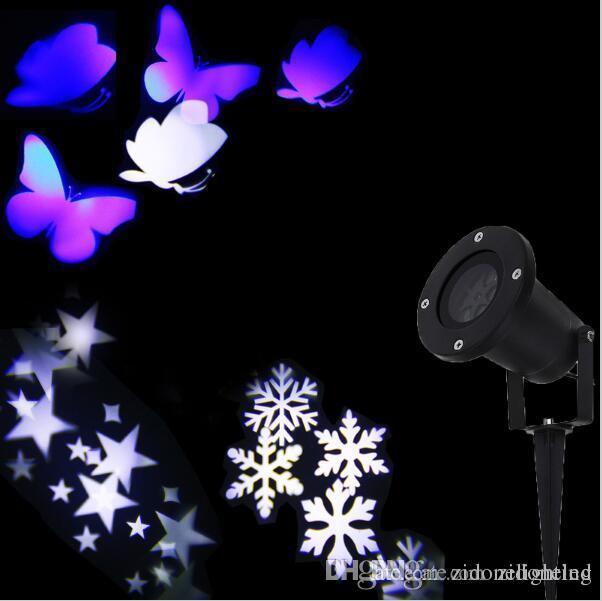 Led Weihnachtsbeleuchtung Laser.2016 Neue Weihnachtsbeleuchtung Outdoor Led Schneeflocke Projektor Licht Sterne Projektor Batterfly Licht Wasserdichte Schnee Laser