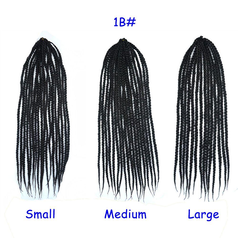 Small Medium Large Size Box Braids Twist Crochet Braids Hair