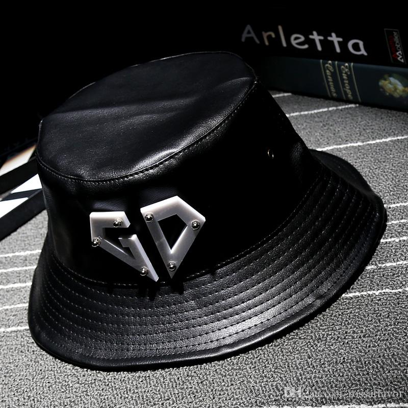 93b683b20 Cool!new fashion PU black ancient basin Cap women Hats For men fall Leather  cap Trucker cap Sports snapback winter for women Free Shipping