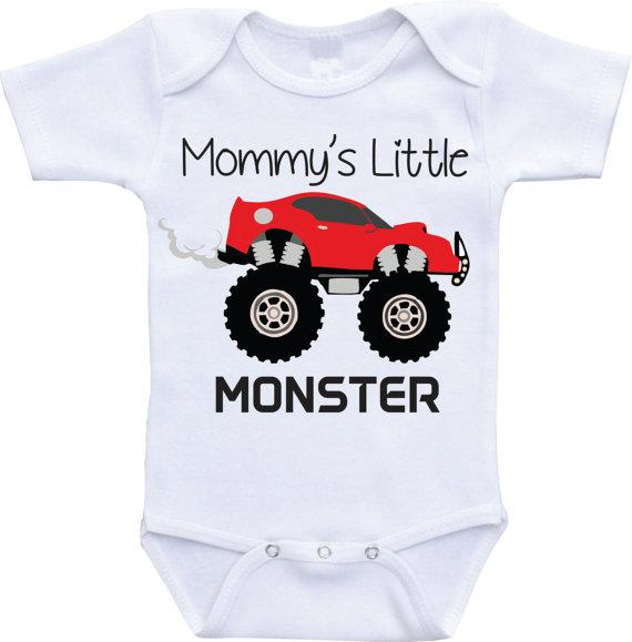 2018 Mommy S Little Monster Onesies Big Truck Car Onesie Baby And