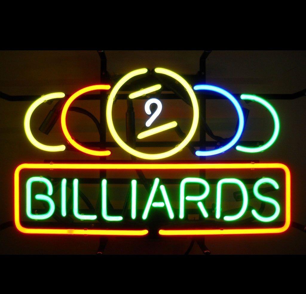 2018 new nine ball snooker billiards pool room beer cave neon light