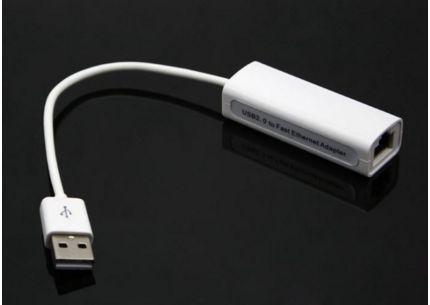 Adaptador de Ethernet USB 2.0 USB RJ45 USB 2.0 a Ethernet de alta velocidad Adaptador LAN para red Adaptador 10/100 para PC windows7 8 con caja minorista