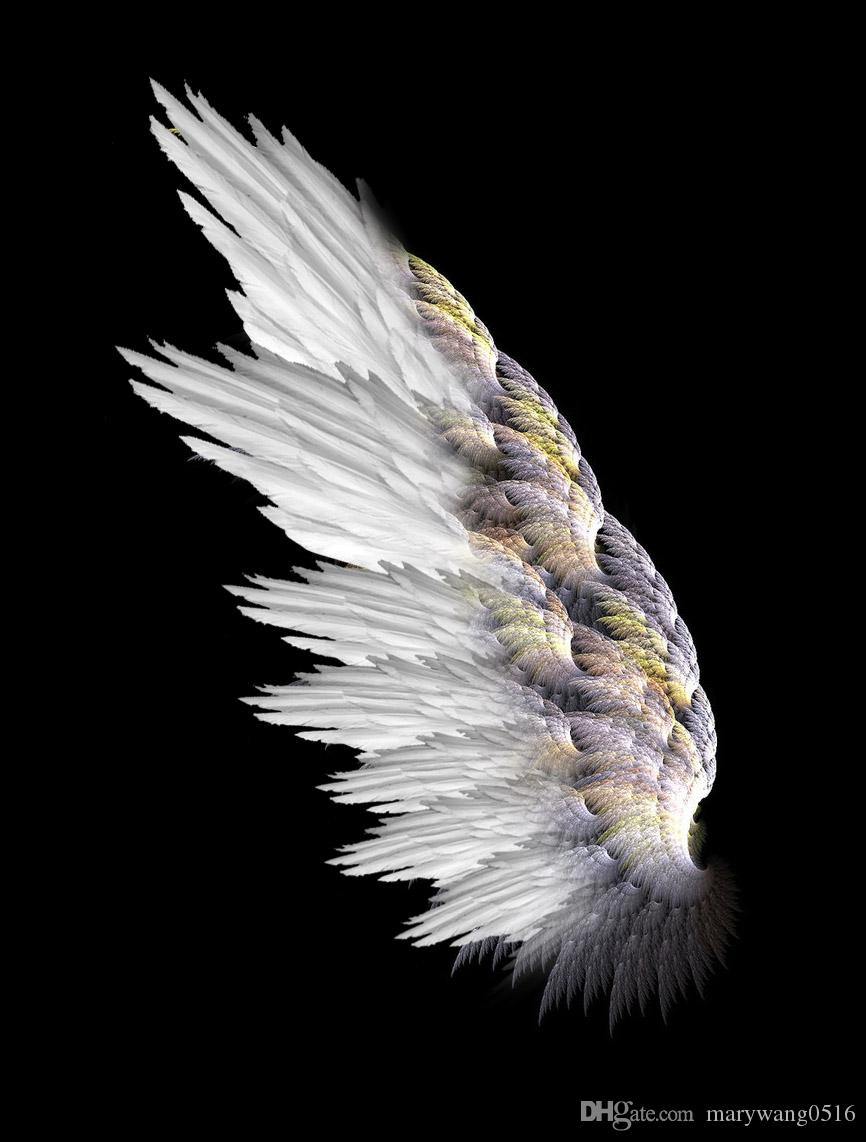 Customized unique adults white soft angel feather wings wedding new year party decorations pros pure handmade ems black devil wings white angel wings online