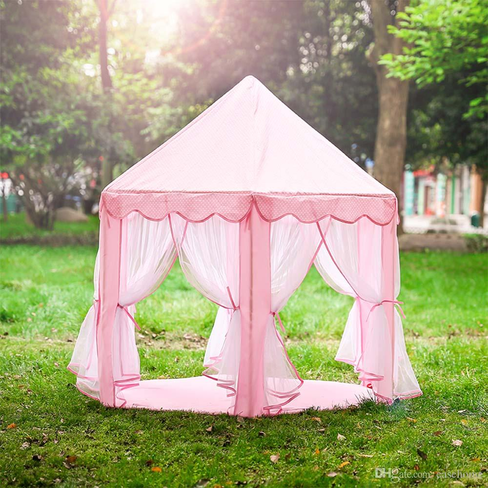 Hot sale mini playing tent Princess castle style for Children play games in out door sports camping