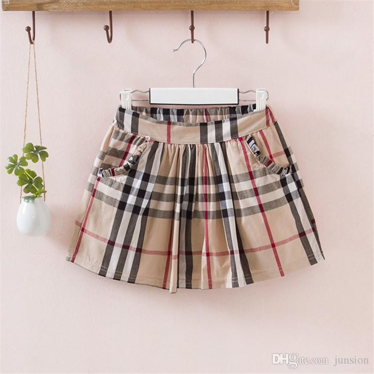 جديد وصول الفتيات الطفل فساتين انكلترا نمط الأطفال مجموعة 2017 الصيف تي شيرت + تنورة قصيرة 2 قطعة الاطفال ارتداء بدلة القطن 100٪